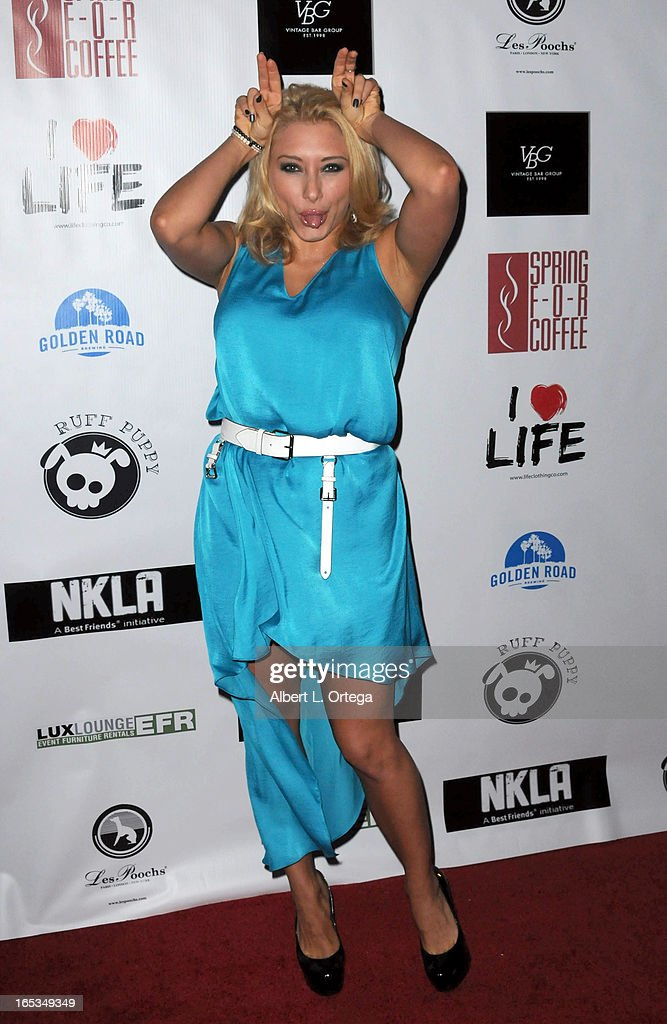 Actress Alexandra Vino arrives for the No Kill LA Charity Event held at Fred Segal on April 2, 2013 in West Hollywood, California.