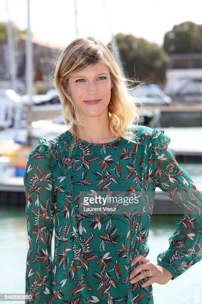 Actress Alexia Barlier attends 'La Foret' Photocall during 19th Festival Of TV Fiction on September 14 2017 in La Rochelle France