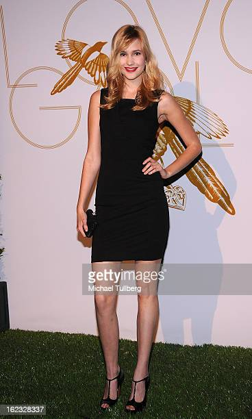 Actress Alexia Fast attends a cocktail party thrown by LOVEGOLD in honor of Fred Leighton at Chateau Marmont on February 21 2013 in Los Angeles...