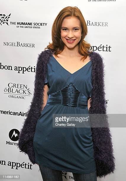 Actress Alexia Fast attends the Bon Appetit Supper Club 'A Sealed Fate' dinner at Skylodge on January 18 2009 in Park City Utah