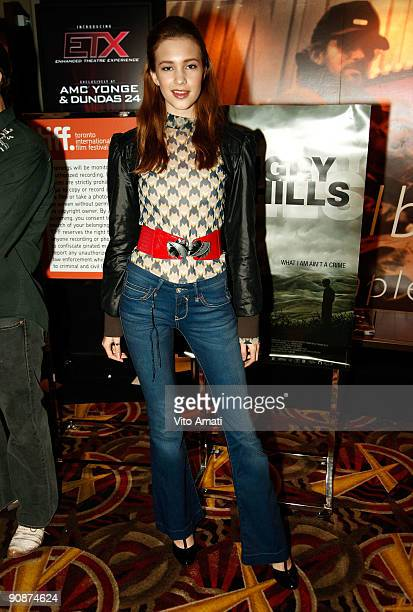 Actress Alexia Fast attends the 'Hungry Hills' premiere at the AMC 7 during the 2009 Toronto International Film Festival on September 16 2009 in...