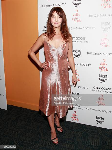 Actress Alexia Landeau attends The Cinema Society with MCM Greee Goose screening of Magnolia Pictures' '2 Days In New York' at Landmark Sunshine...