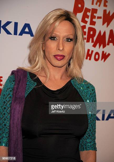 Actress Alexis Arquette arrives at 'The Peewee Herman Show' Los Angeles Opening Night at Club Nokia on January 20 2010 in Los Angeles California