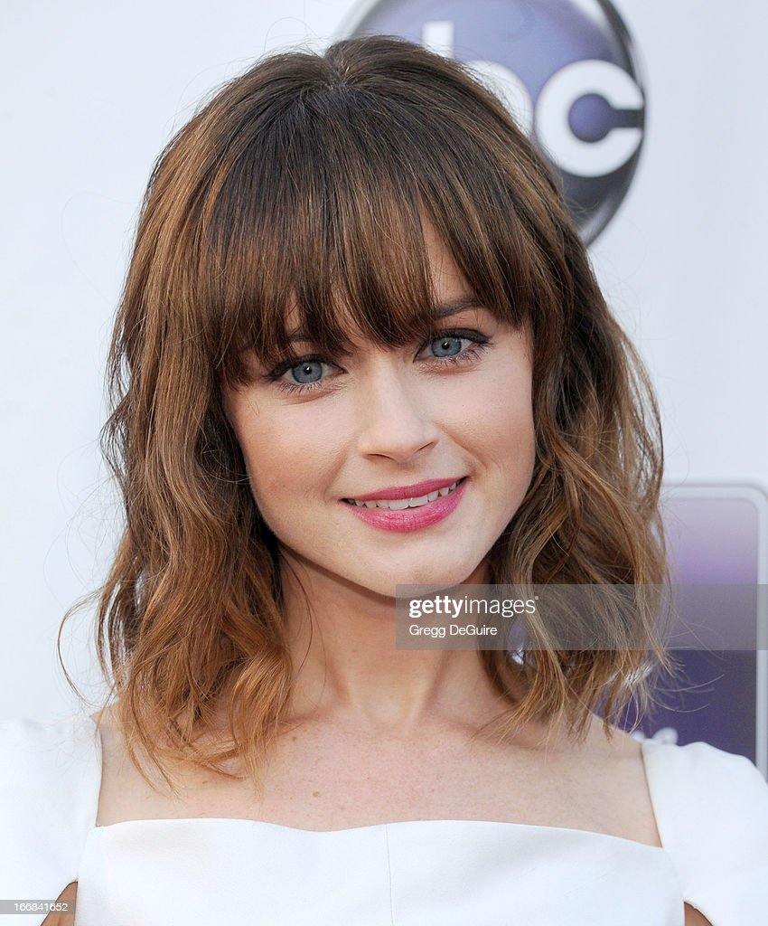Actress Alexis Bledel arrives at Disney ABC Television and the Hallmark Hall Of Fame's premiere of 'Remembering Sunday' at Fox Studio Lot on April 17, 2013 in Century City, California.