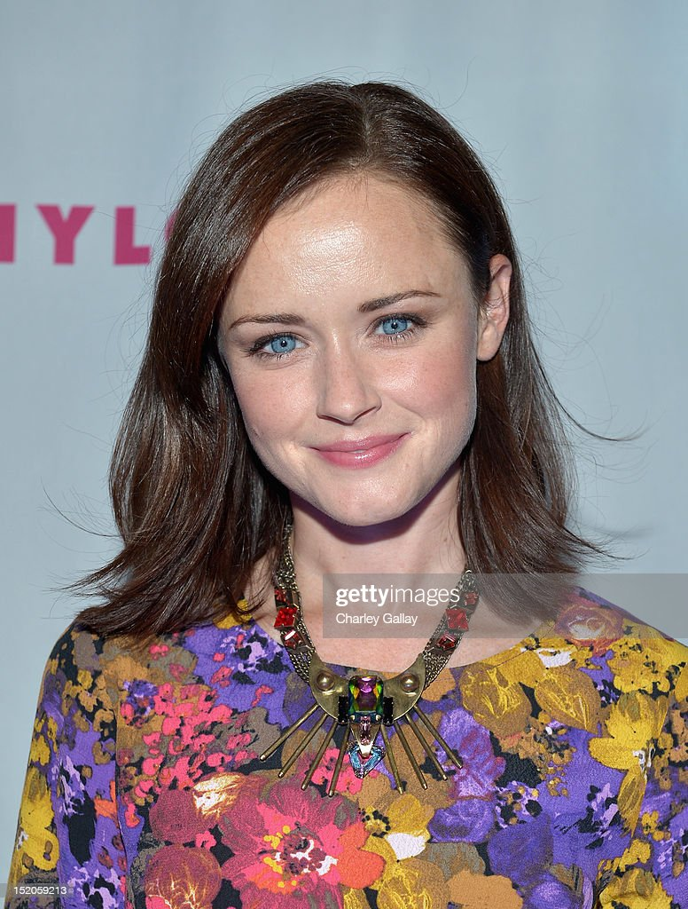 Actress Alexis Bledel arrives at the NYLON and And Sony X Headphones September TV issue launch event with cover star, Lea Michele at Mr. C Beverly Hills on September 15, 2012 in Beverly Hills, California.