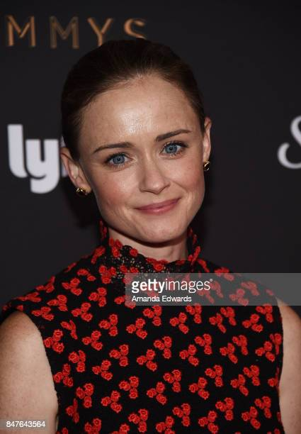 Actress Alexis Bledel arrives at the Television Academy's Performers Nominee Reception at the Wallis Annenberg Center for the Performing Arts on...