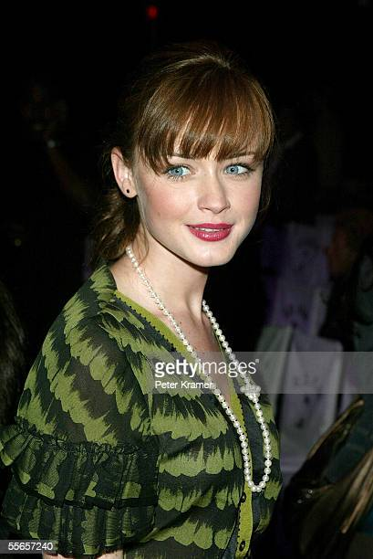 Actress Alexis Bledel arrives for the Lamb By Gwen Stefani Spring 2006 fashion show during Olympus Fashion Week at Roseland September 16 2005 in New...