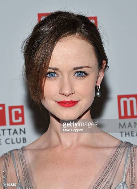Actress Alexis Bledel attends 'Regrets' OffBroadway opening night celebration at Beacon on March 27 2012 in New York City