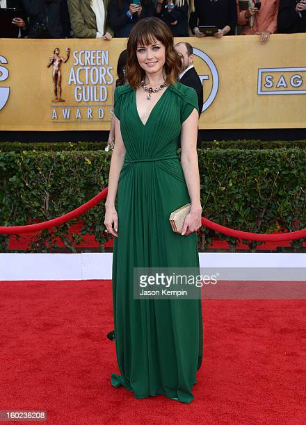 Actress Alexis Bledel attends the 19th Annual Screen Actors Guild Awards at The Shrine Auditorium on January 27 2013 in Los Angeles California