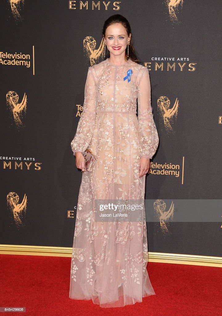 Actress Alexis Bledel attends the 2017 Creative Arts Emmy Awards at Microsoft Theater on September 10, 2017 in Los Angeles, California.