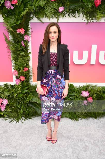 Actress Alexis Bledel attends the Hulu Upfront Brunch at La Sirena Ristorante on May 3 2017 in New York City