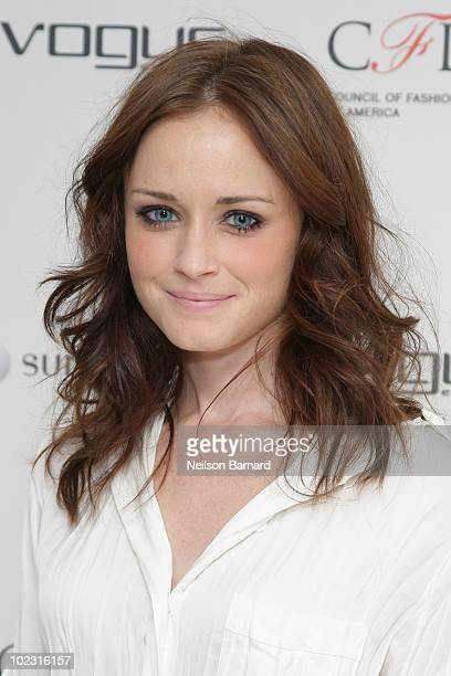 Actress Alexis Bledel attends the launch party for the Vogue Eyewear / CFDA Capsule Collection at Sunglass Hut Flagship on 5th Avenue on June 22 2010...