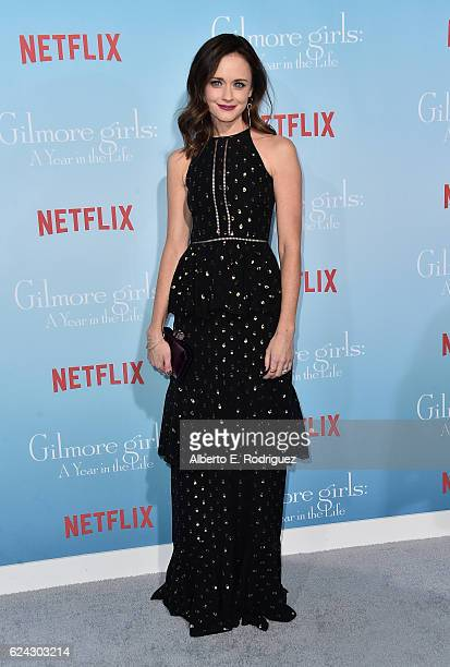 Actress Alexis Bledel attends the premiere of Netflix's 'Gilmore Girls A Year In The Life' at the Regency Bruin Theatre on November 18 2016 in Los...