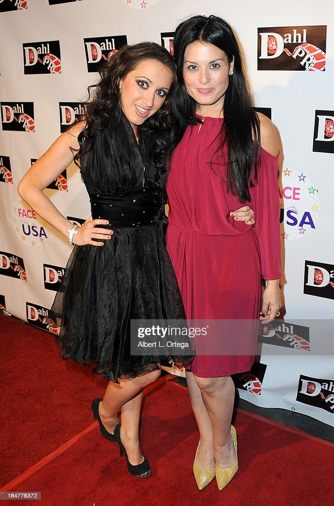 Actress Alexis Iacono and actress Devanny Pinn arrive for 'The Black Dahlia Haunting' DVD Release Party held at The Station Hollywood on October 15, 2013 in Hollywood, California.
