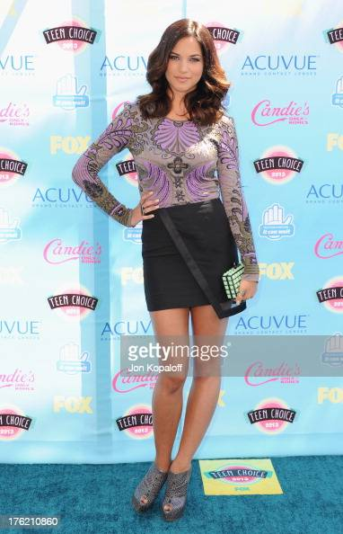 Actress Alexis Knapp arrives at the 2013 Teen Choice Awards at Gibson Amphitheatre on August 11 2013 in Universal City California