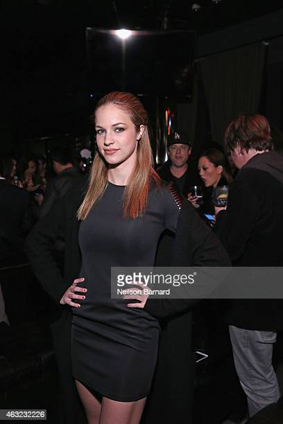 Actress Alexis Knapp attends E 'Fashion Police' and NYLON kickoff New York Fashion Week with a 50 Shades Of Fashion event in celebration of the...