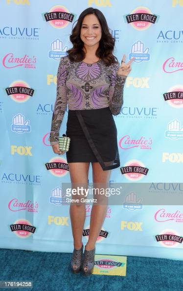 Actress Alexis Knapp attends the 2013 Teen Choice Awards at Gibson Amphitheatre on August 11 2013 in Universal City California