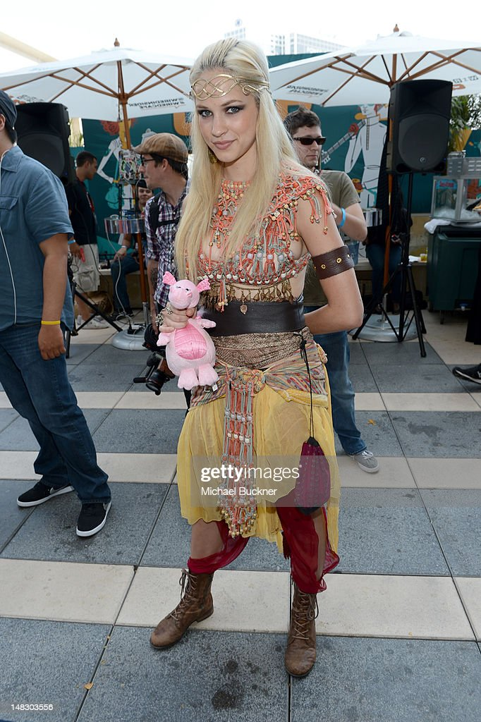Actress Alexis Knapp attends WIRED Cafe At Comic-Con held at Palm Terrace at the Omni Hotel on July 13, 2012 in San Diego, California.