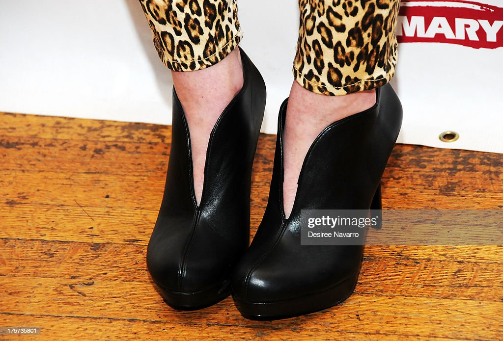 Actress Alexis Molnar (shoe detail) attends 'Harbor' Opening Night After Party at Park Avenue Armory on August 6, 2013 in New York City.