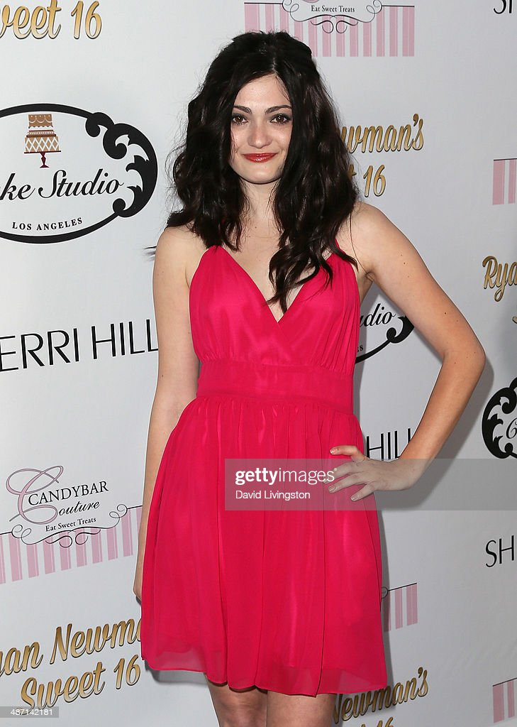 Actress Alexis Raich attends Ryan Newman's Glitz and Glam Sweet 16 birthday party at the Emerson Theater on April 27, 2014 in Hollywood, California.