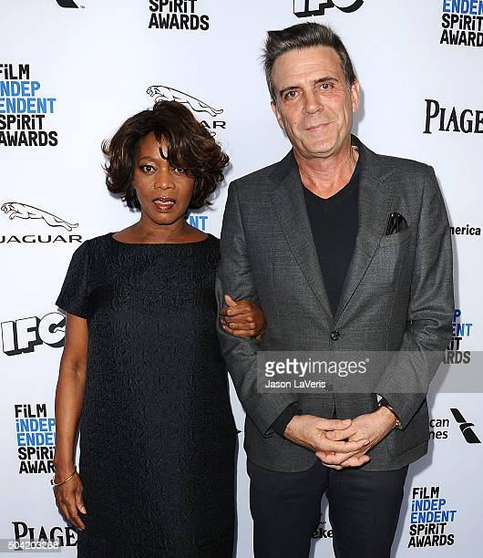Actress Alfre Woodard and husband Roderick Spencer attend the 2016 Film Independent filmmaker grant and Spirit Award nominees brunch at BOA...