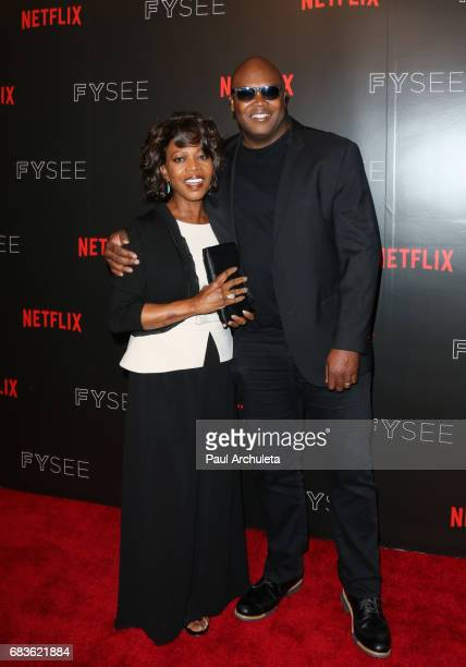 Actress Alfre Woodard and Producer Cheo Hodari Coker attend Netflix's 'Marvel Cage' FYC event at Netflix FYSee Space on May 15 2017 in Beverly Hills...