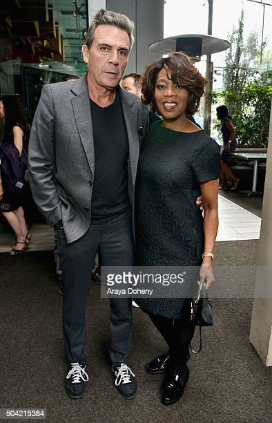 Actress Alfre Woodard and Roderick Spencer attend the 2016 Film Independent Filmmaker Grant and Spirit Award Nominees Brunch at BOA Steakhouse on...