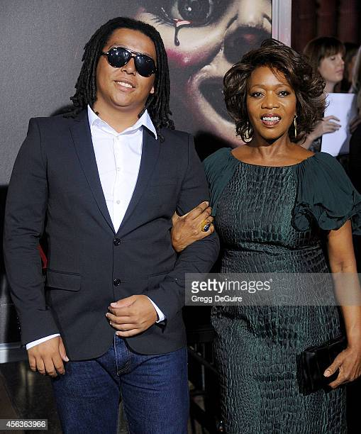 Actress Alfre Woodard and son Duncan Spencer arrive at the Los Angeles Special Screening Of New Line Cinema's 'Annabelle' at TCL Chinese Theatre on...