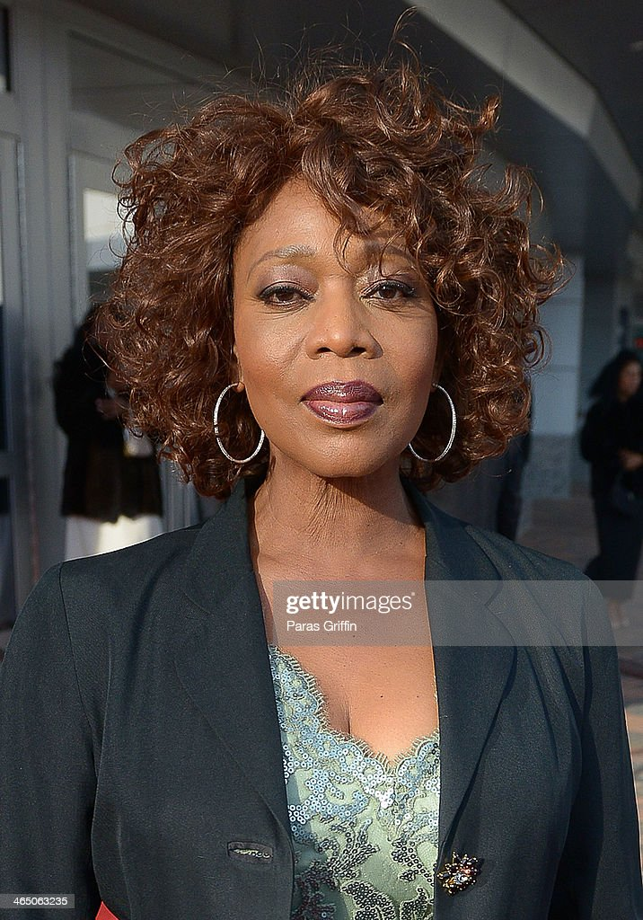 Actress <a gi-track='captionPersonalityLinkClicked' href=/galleries/search?phrase=Alfre+Woodard&family=editorial&specificpeople=220969 ng-click='$event.stopPropagation()'>Alfre Woodard</a> arrives at the 2014 Trumpet Awards at Cobb Energy Performing Arts Center on January 25, 2014 in Atlanta, Georgia.