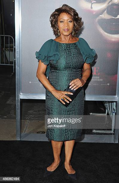 Actress Alfre Woodard arrives at the Los Angeles Premiere 'Annabelle' at TCL Chinese Theatre on September 29 2014 in Hollywood California