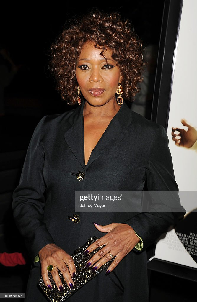 Actress Alfre Woodard arrives at the Los Angeles premiere of '12 Years A Slave' at Directors Guild Of America on October 14, 2013 in Los Angeles, California.