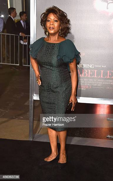 Actress Alfre Woodard arrives at the screening Of New Line Cinema's 'Annabelle' at TCL Chinese Theatre on September 29 2014 in Hollywood California