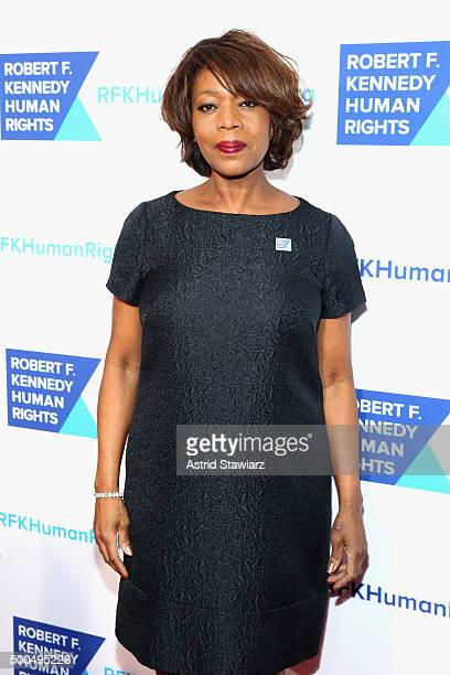 Actress Alfre Woodard attends as Robert F Kennedy Human Rights hosts The 2015 Ripple Of Hope Awards honoring Congressman John Lewis Apple CEO Tim...