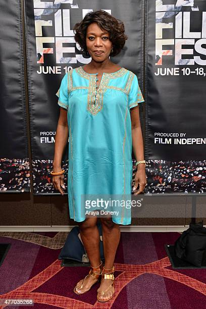 Actress Alfre Woodard attends Coffee Talks Actors during the 2015 Los Angeles Film Festival at the Courtyard Marriott at LA Live on June 13 2015 in...