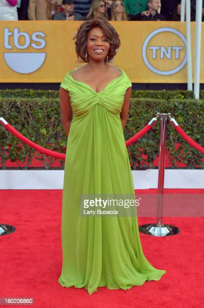 Actress Alfre Woodard attends the 19th Annual Screen Actors Guild Awards at The Shrine Auditorium on January 27 2013 in Los Angeles California...