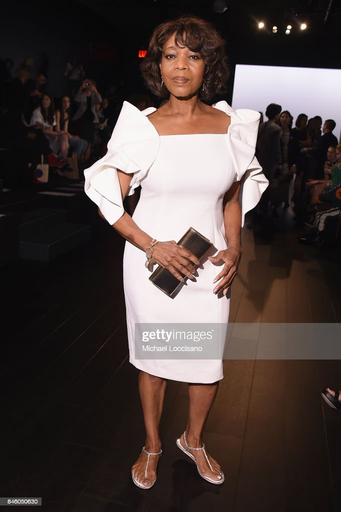 Actress Alfre Woodard attends the Badgley Mischka -fashion show during September 2017 - New York Fashion Week: The Shows at Gallery 1, Skylight Clarkson Sq on September 12, 2017 in New York City.