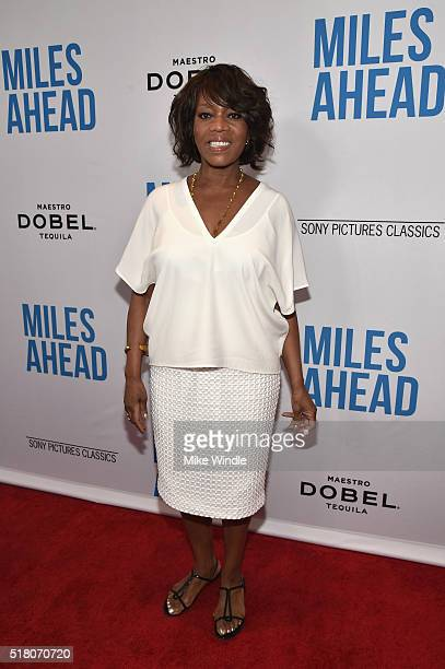 Actress Alfre Woodard attends the premiere of Sony Pictures Classics' 'Miles Ahead' at Writers Guild Theater on March 29 2016 in Beverly Hills...