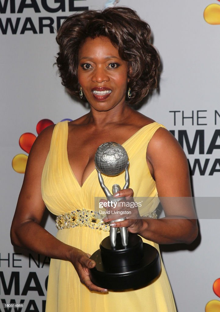 Actress Alfre Woodard poses in the press room at the 44th NAACP Image Awards at the Shrine Auditorium on February 1, 2013 in Los Angeles, California.