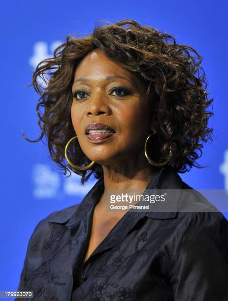Actress Alfre Woodard speaks onstage at the '12 Years A Slave' Press Conference during the 2013 Toronto International Film Festival at TIFF Bell...