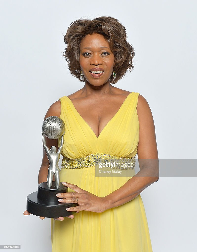 Actress Alfre Woodard, winner of Actress in a Television Movie, Mini-Series or Dramatic Special, poses for a portrait during the 44th NAACP Image Awards at The Shrine Auditorium on February 1, 2013 in Los Angeles, California.