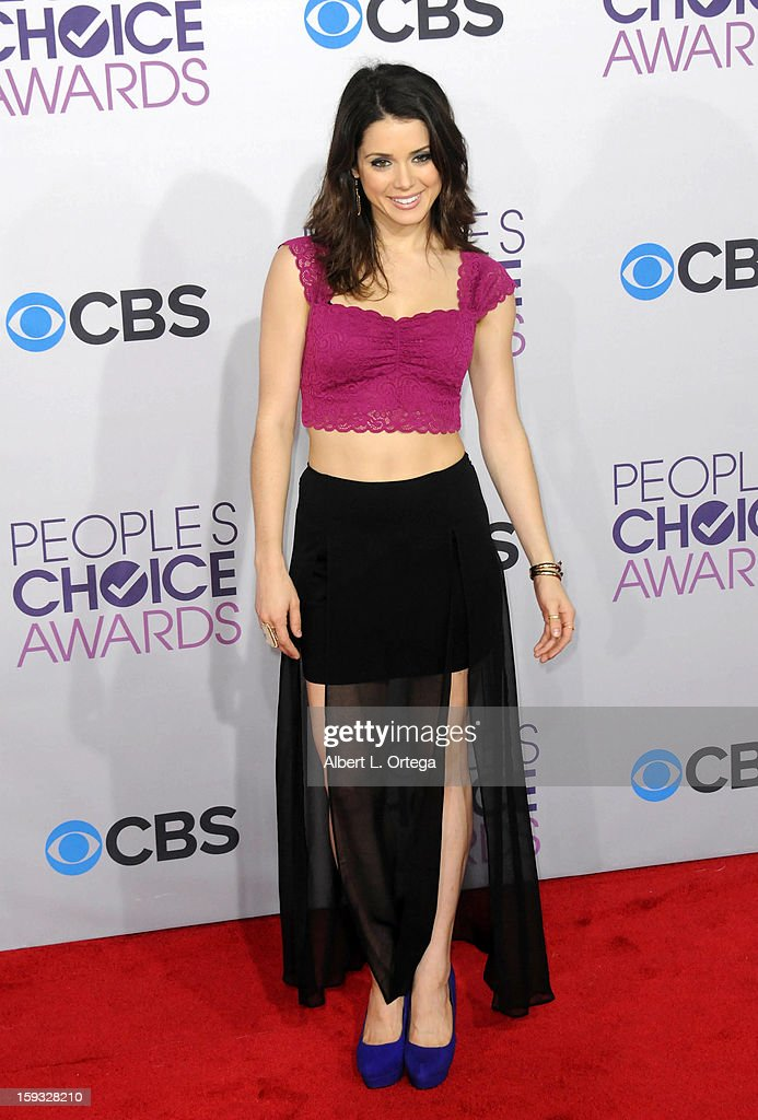 Actress Ali Cobrin arrives for the 34th Annual People's Choice Awards - Arrivals held at Nokia Theater at L.A. Live on January 9, 2013 in Los Angeles, California.