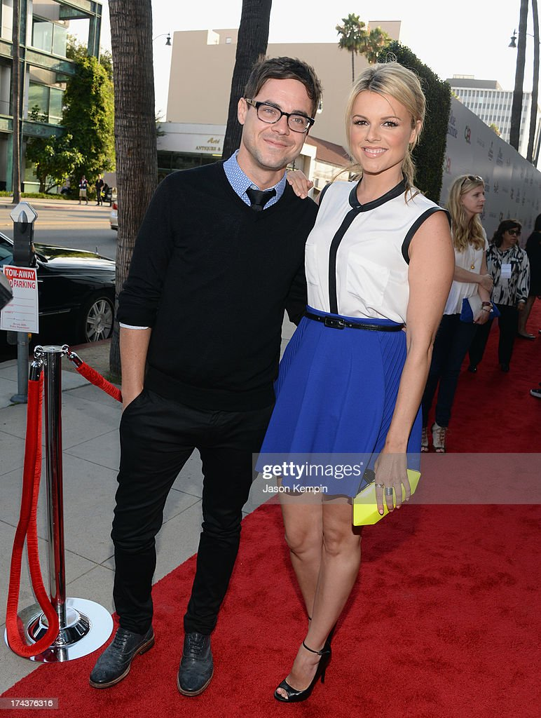 Actress Ali Fedotowsky (R) and Kevin Manno arrives at the premiere of 'Blue Jasmine' hosted by AFI & Sony Picture Classics at AMPAS Samuel Goldwyn Theater on July 24, 2013 in Beverly Hills, California. at AMPAS Samuel Goldwyn Theater on July 24, 2013 in Beverly Hills, California.