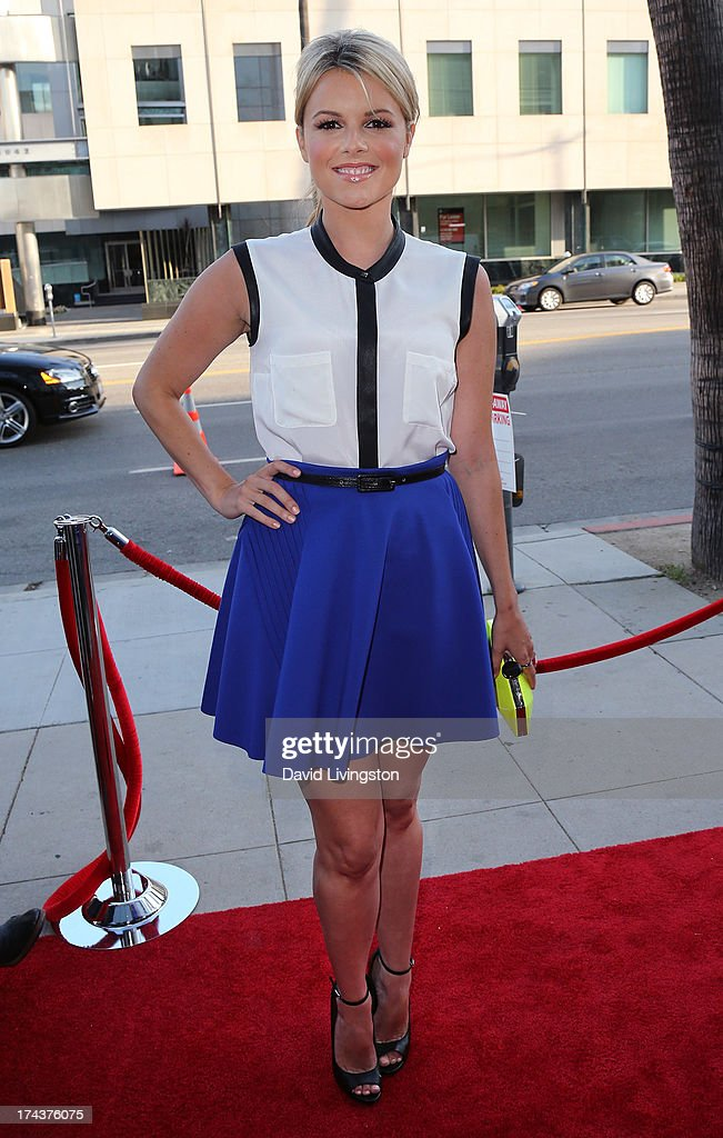 Actress Ali Fedotowsky attends the premiere of 'Blue Jasmine' hosted by the AFI & Sony Picture Classics at the AMPAS Samuel Goldwyn Theater on July 24, 2013 in Beverly Hills, California.
