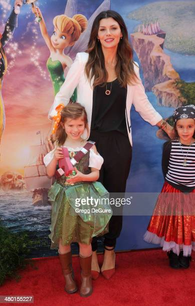 Actress Ali Landry and daughter Estela Ines arrive at the Los Angeles premiere of Disney's 'The Pirate Fairy' at Walt Disney Studio Lot on March 22...