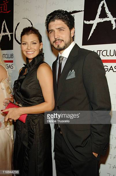 Actress Ali Landry and director Alejandro Monteverde arrive at a benefit for underprivileged youth sponsored by Versace at TAO Nightclub at The...