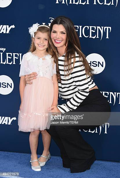 Actress Ali Landry and Estela Ines attend the World Premiere of Disney's 'Maleficent' at the El Capitan Theatre on May 28 2014 in Hollywood California