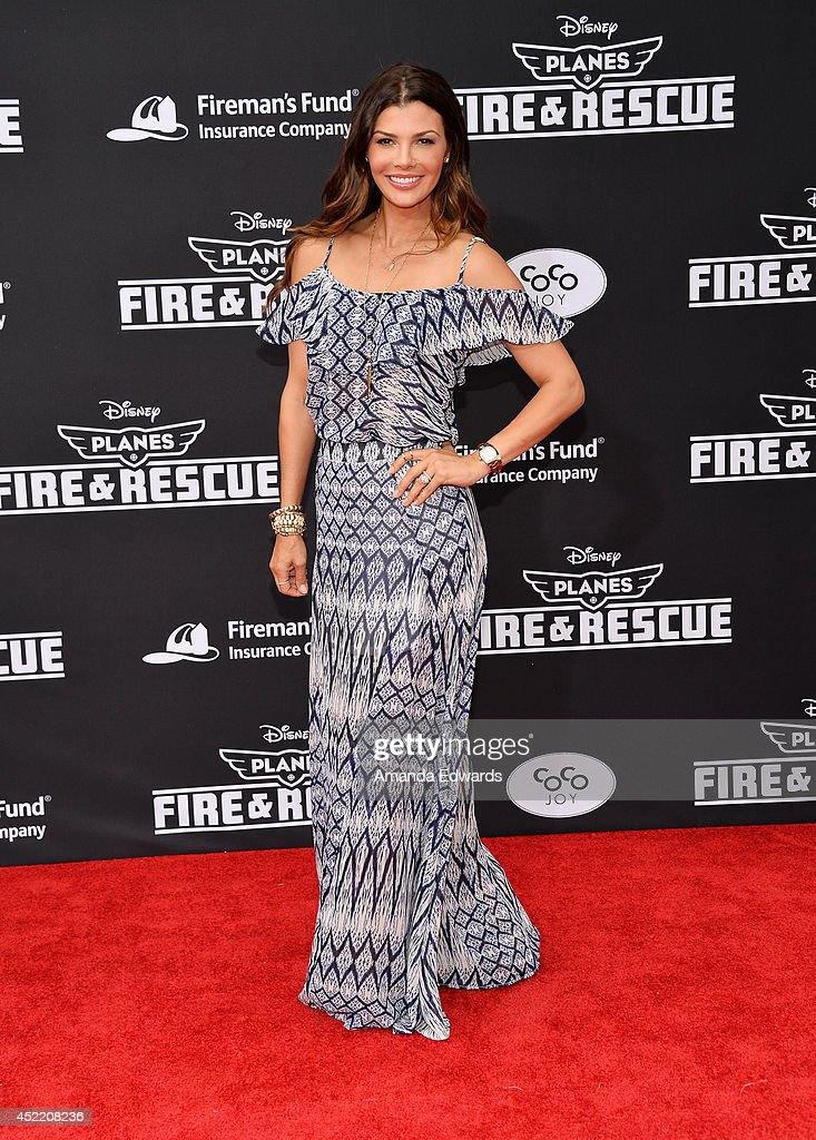 Actress <a gi-track='captionPersonalityLinkClicked' href=/galleries/search?phrase=Ali+Landry&family=editorial&specificpeople=543155 ng-click='$event.stopPropagation()'>Ali Landry</a> arrives at the Los Angeles premiere of Disney's 'Planes: Fire & Rescue' at the El Capitan Theatre on July 15, 2014 in Hollywood, California.