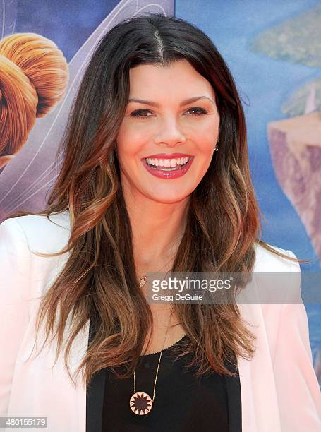 Actress Ali Landry arrives at the Los Angeles premiere of Disney's 'The Pirate Fairy' at Walt Disney Studio Lot on March 22 2014 in Burbank California