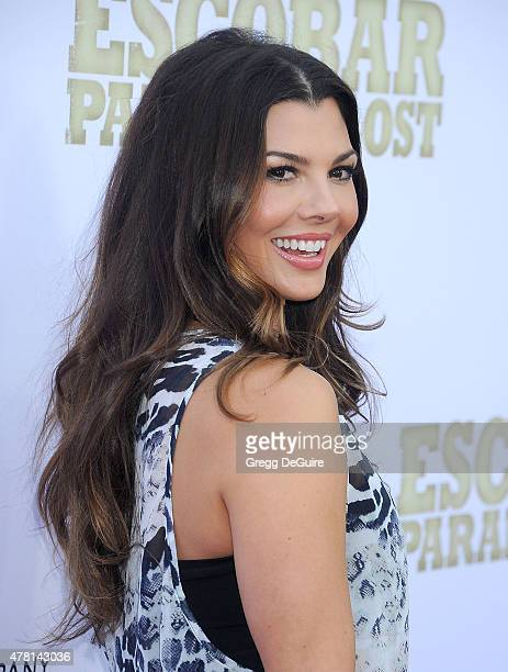 Actress Ali Landry arrives at the Los Angeles premiere of 'Escobar Paradise Lost' at ArcLight Hollywood on June 22 2015 in Hollywood California