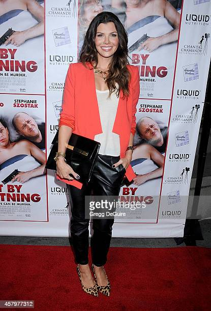 Actress Ali Landry arrives at the Los Angeles premiere of 'Hit By Lightning' at ArcLight Hollywood on October 27 2014 in Hollywood California
